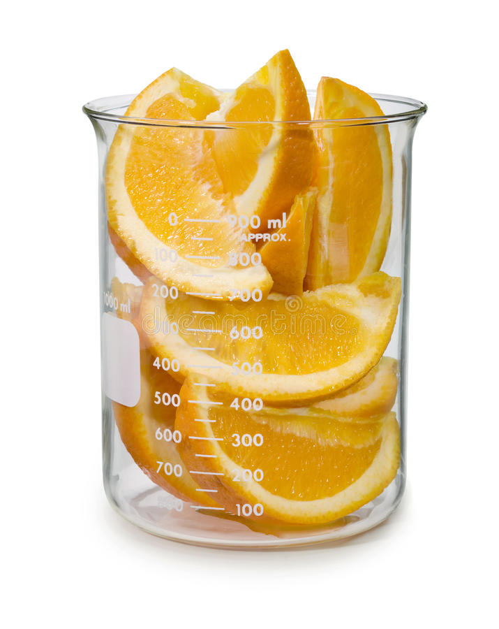 Free Sliced Oranges In A Beaker Royalty Free Stock Photography - 13842227