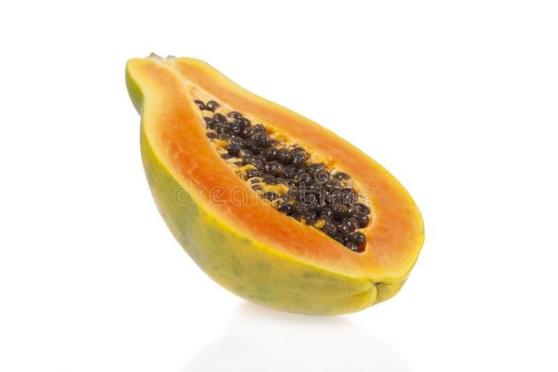 Sliced papaya royalty free stock photo