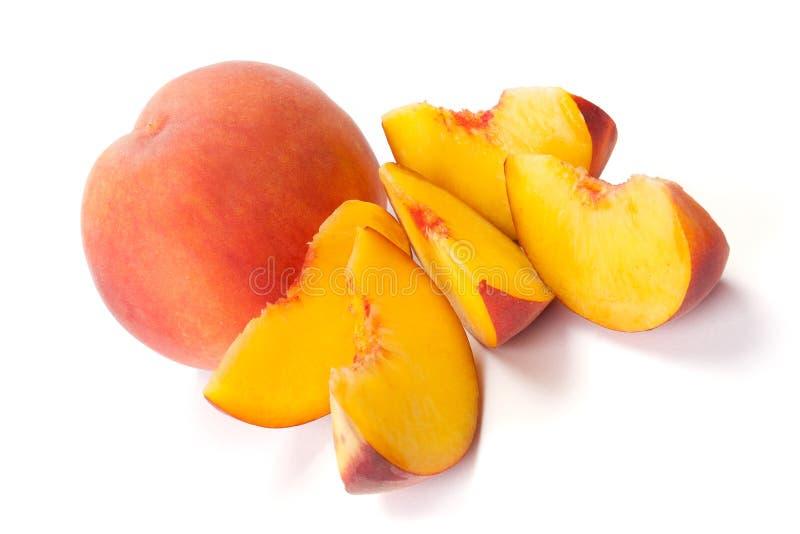 Sliced peaches royalty free stock photos