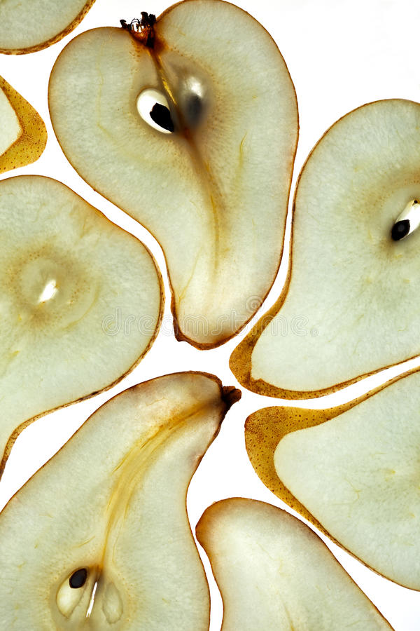 Sliced Pear royalty free stock image