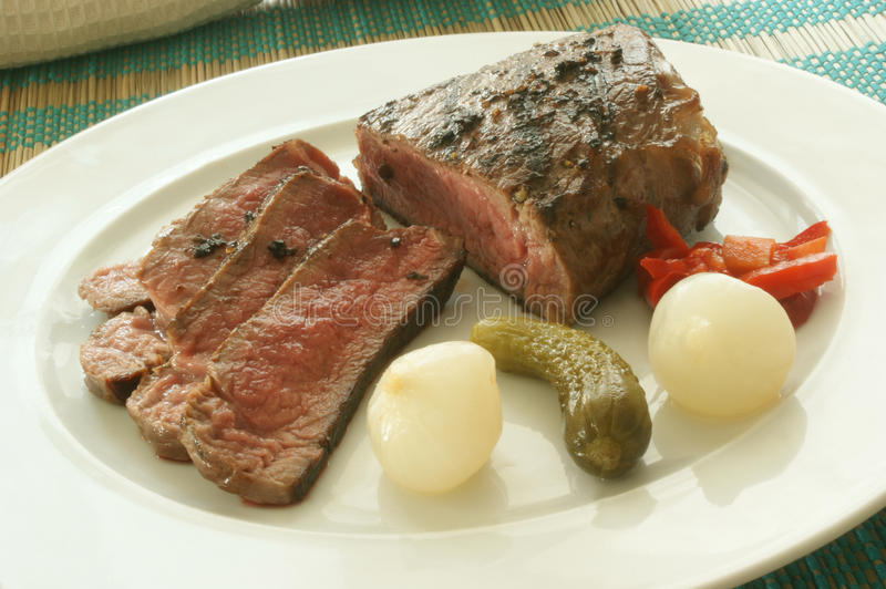 Download Sliced Pepper Steak With Sour Vegetables Royalty Free Stock Photography - Image: 10703067