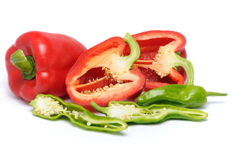 Download Sliced Peppers stock image. Image of fresh, cook, dish - 5709059