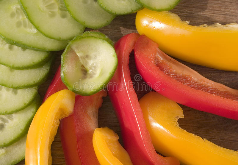 Download Sliced Peppers And Cucumber Stock Image - Image: 12902547