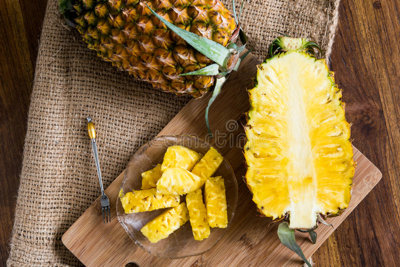 Download Sliced pineapple stock image. Image of fruits, color - 58848849