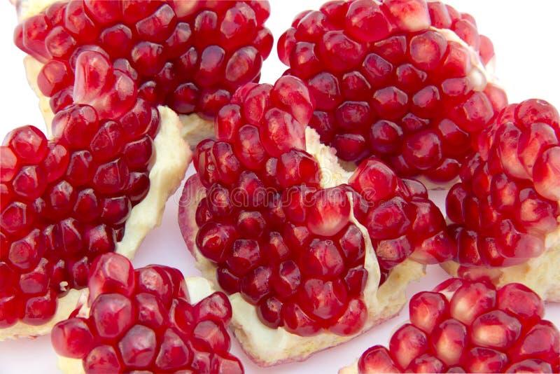 Sliced pomegranate royalty free stock photos