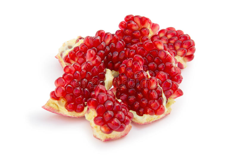 Sliced pomegranate stock image
