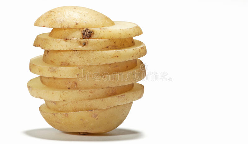 Sliced Potato stock photos