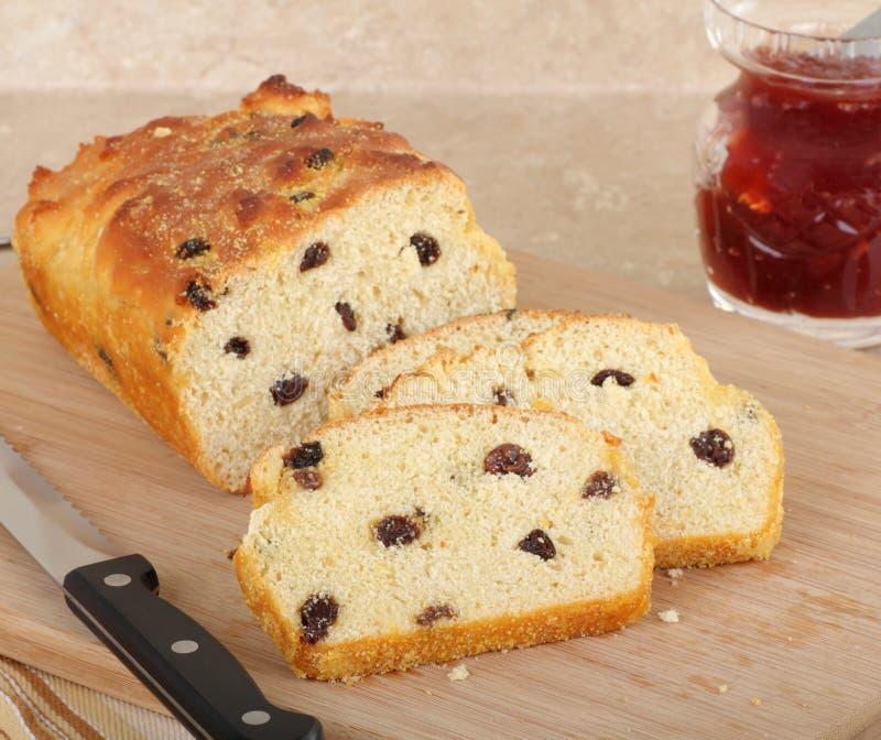 Sliced Raisin Bread Stock Photography