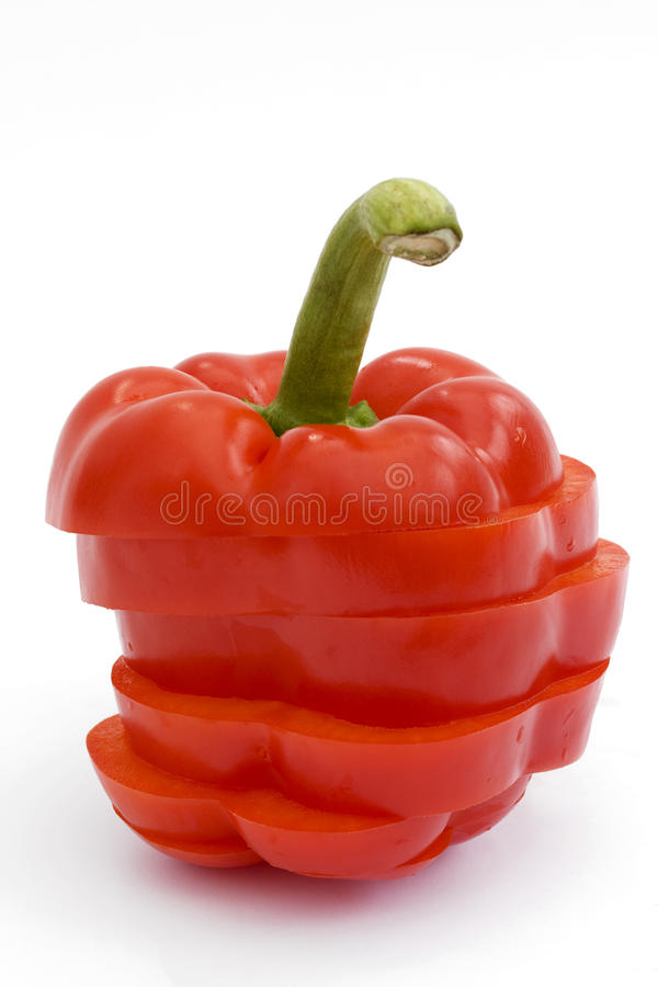 Free Sliced Red Pepper On White Royalty Free Stock Image - 14232476