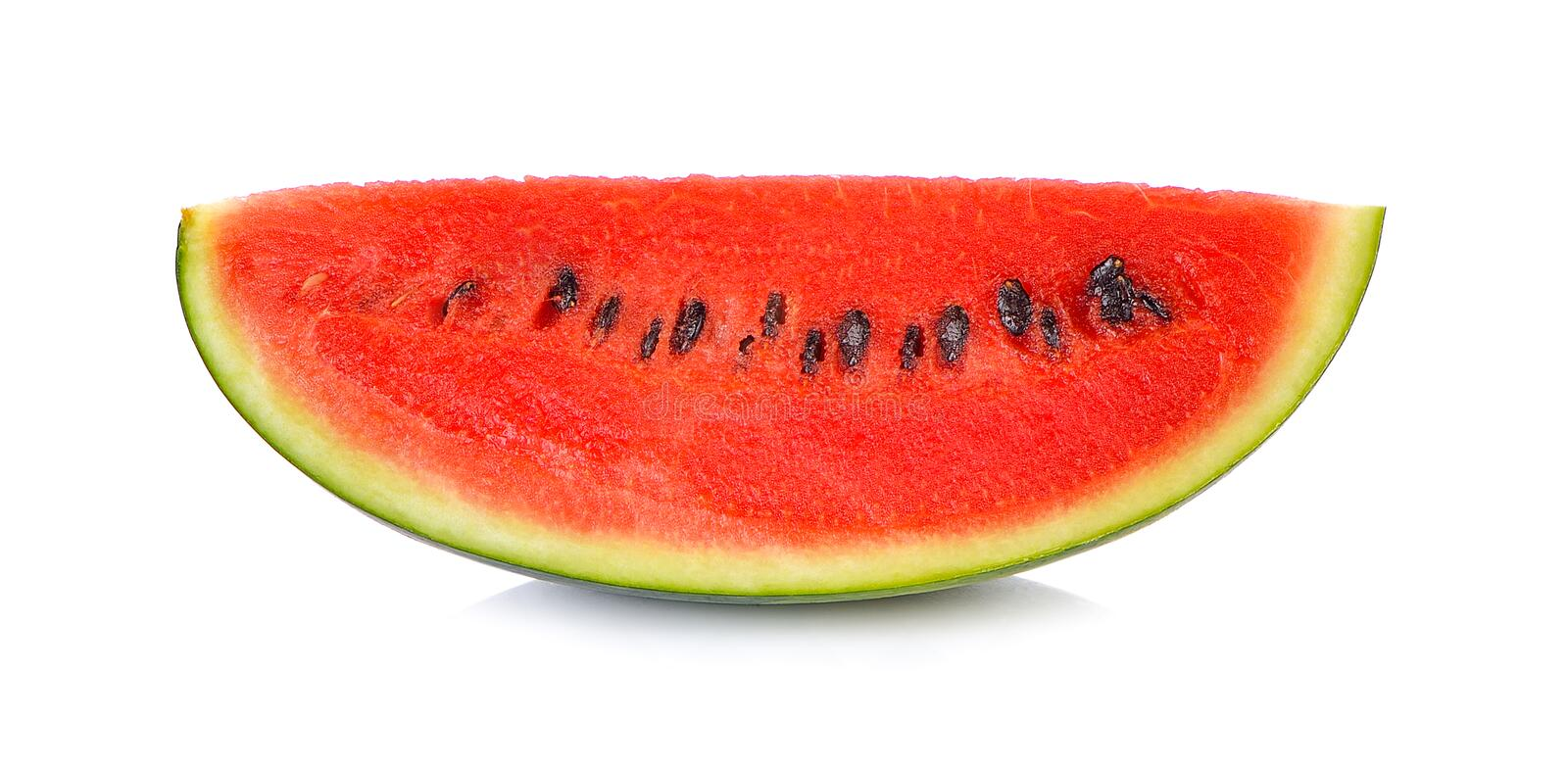 Sliced ripe watermelon isolated on white background cutout stock photography