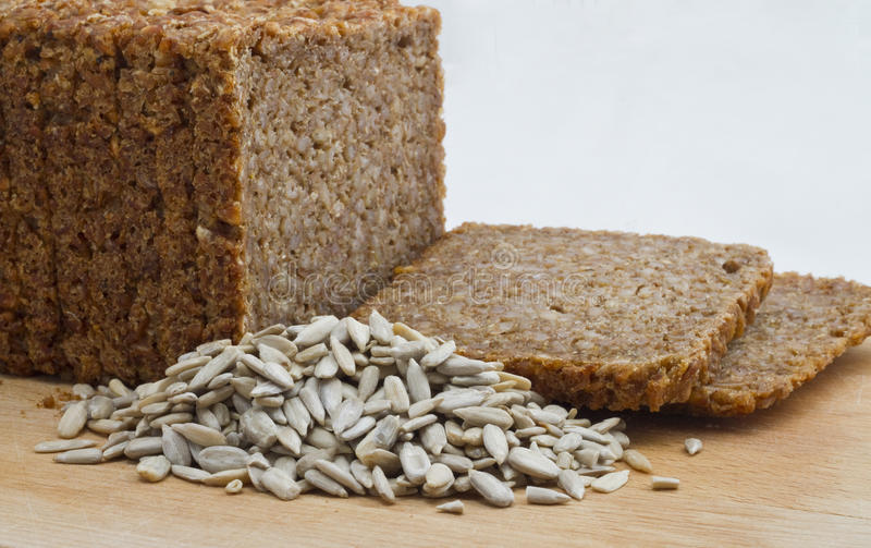 Sliced Rye bread stock photography
