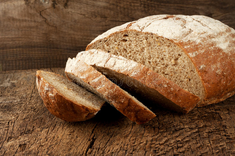 Download Sliced rye bread stock photo. Image of round, seed, rustic - 27495898