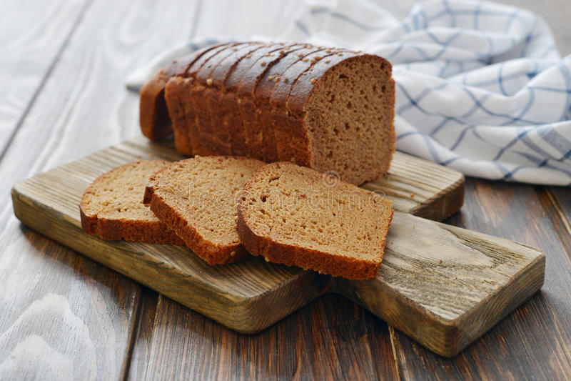 Download Sliced rye bread stock photo. Image of baking, food, board - 39308108