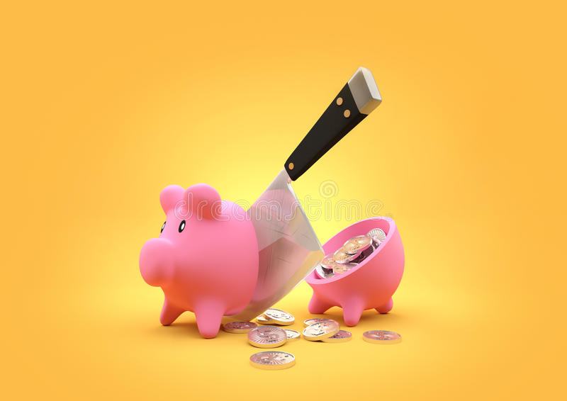 Sliced Savings royalty free stock image