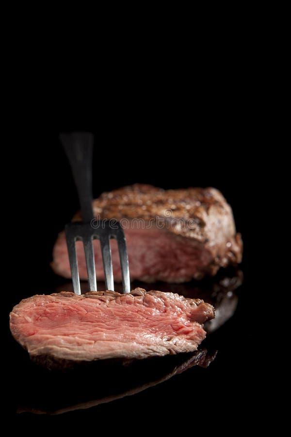 Free Sliced Steak. Rare Medium. Stock Photo - 14207480
