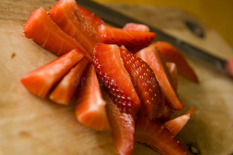Sliced Strawberries Royalty Free Stock Images