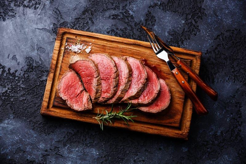 Sliced tenderloin Steak roastbeef stock photography