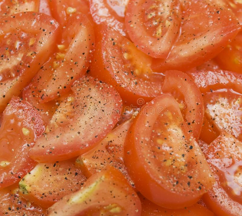 Sliced tomatos