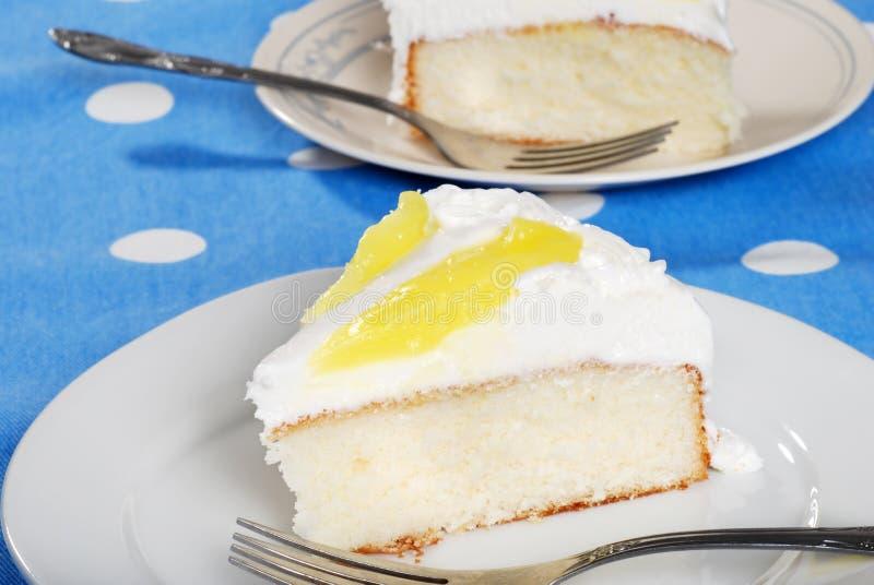 Download Sliced vanilla lemon cake stock photo. Image of fork - 13278954