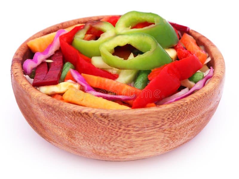 Sliced vegetables stock image