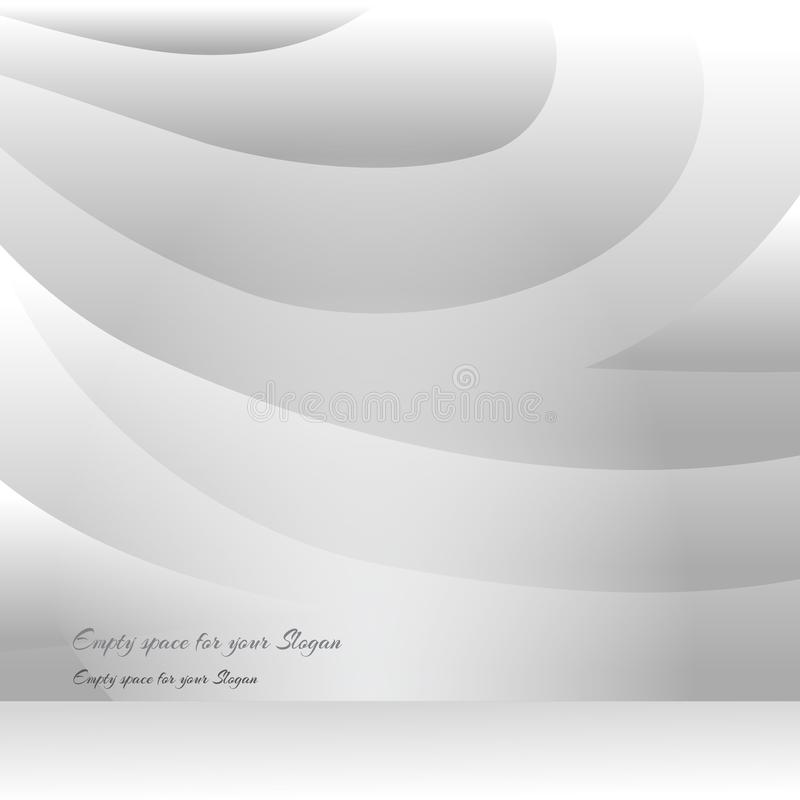 Sliced wavy background, creative futuristic illustration. For web and print decoration, clean design stock illustration