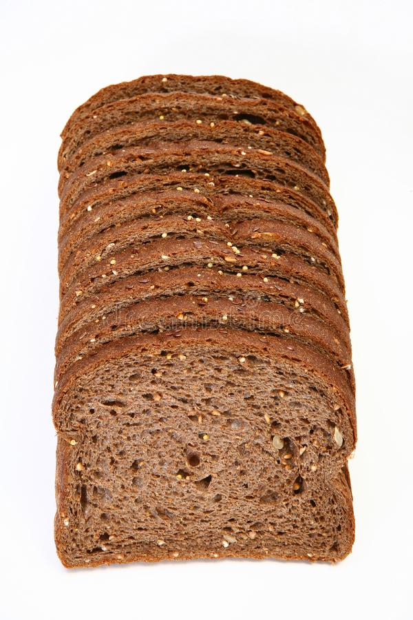 Download Sliced Wheat Bread stock image. Image of diet, stack, seed - 6278615