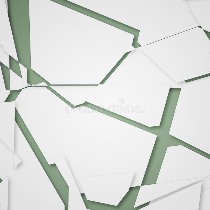 a sliced white paper background stock illustration