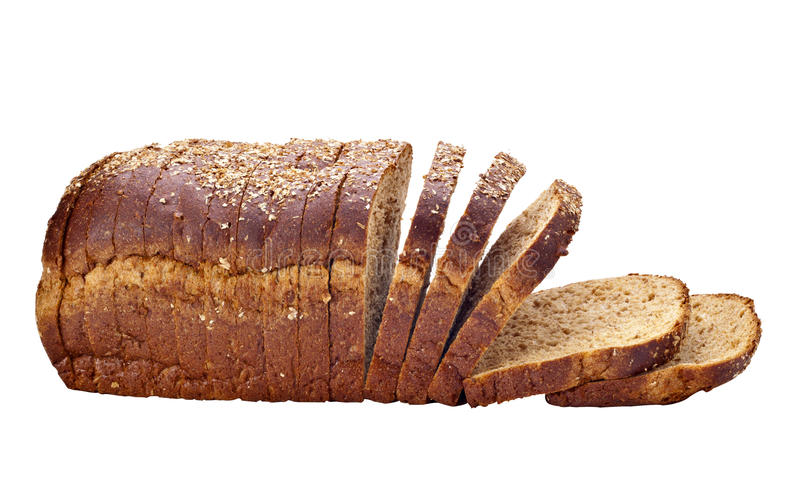 Sliced whole wheat bread royalty free stock photo