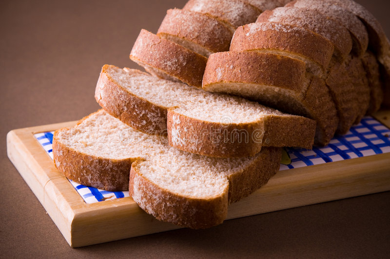 Sliced whole wheat bread royalty free stock image