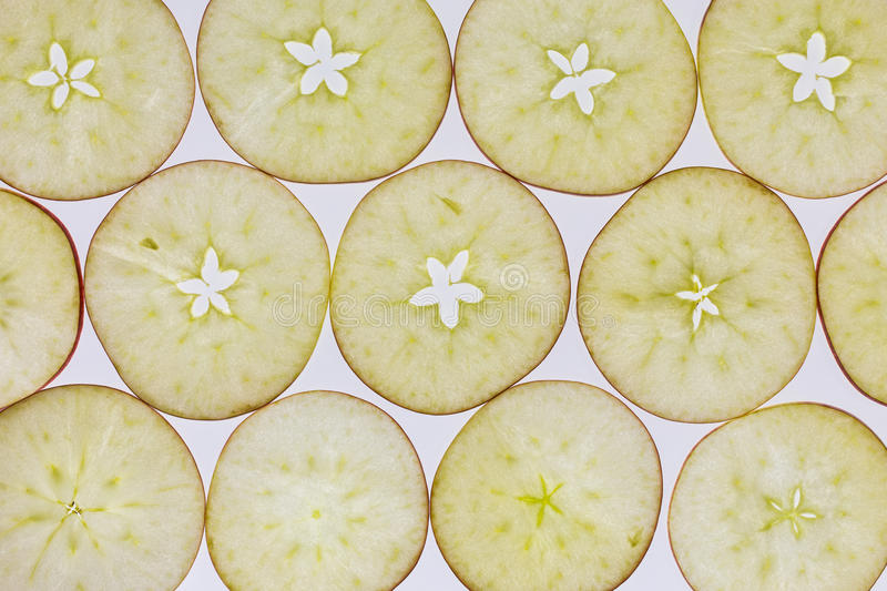 Slices of apple royalty free stock image