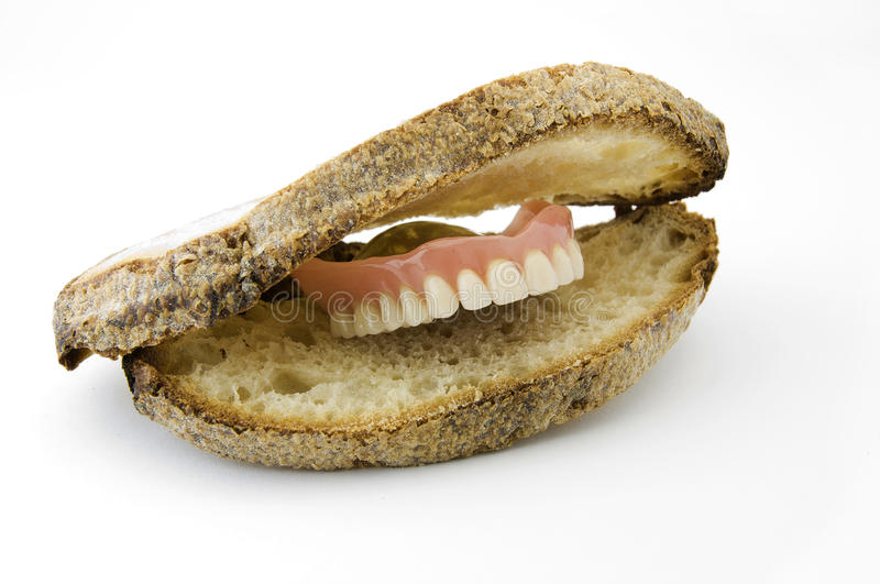 Download Slices of bread stock image. Image of teeth, lips, white - 14861581