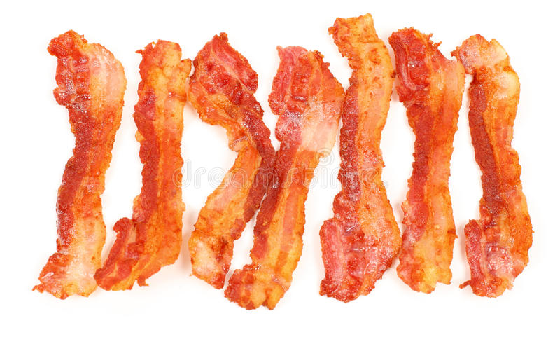Download Slices of breakfast bacon stock photo. Image of background - 16077116