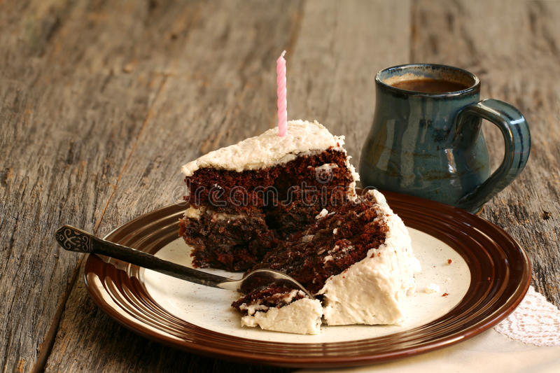Slices of chocolate cake royalty free stock images