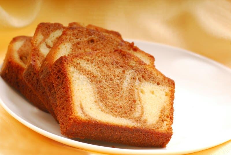 Slices of Cinnamon swirl pound cake