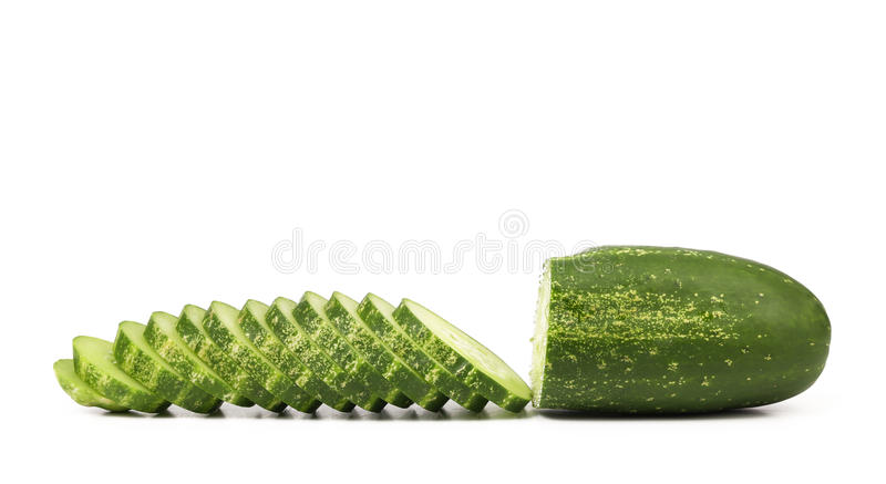 Slices of cucmber. stock photos