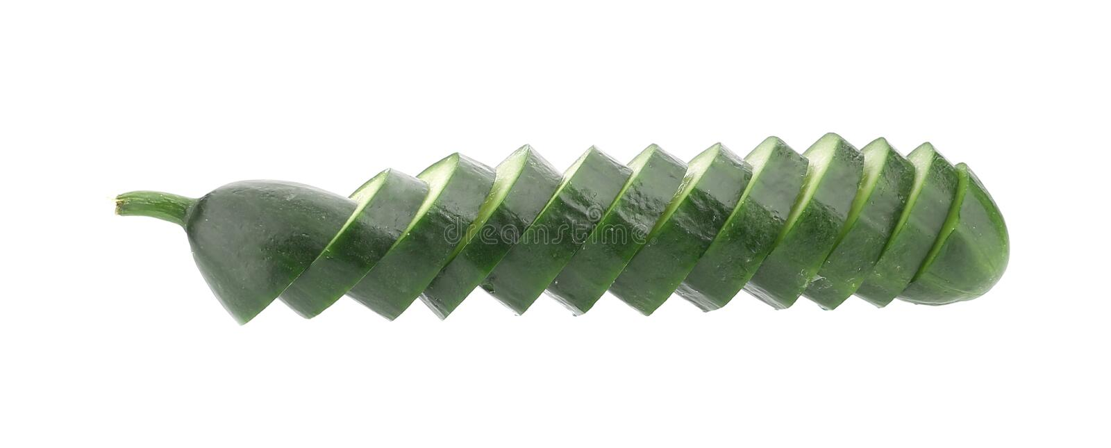 Slices of cucmber. royalty free stock images