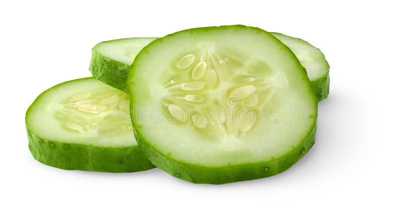Slices Of Cucumber Royalty Free Stock Photos