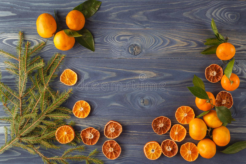 Slices of dried orange, lemon, cinnamon, cloves, cardamom and pi royalty free stock images