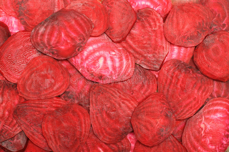 Slices of fresh beetroot stock photo