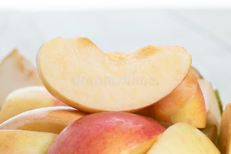 Slices of fresh red apple. fresh apple quarter stock images