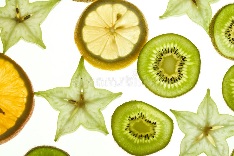 Slices fruit royalty free stock photos
