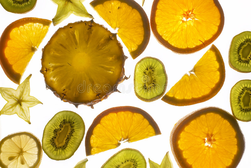 Slices fruit stock photography