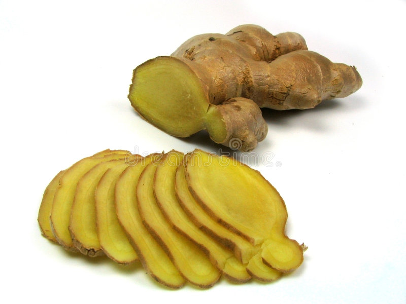 Slices of ginger royalty free stock photos