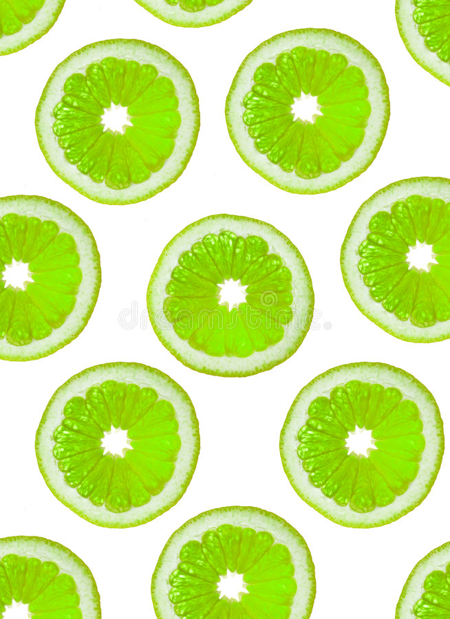 Slices Of Green Fruit Stock Photography