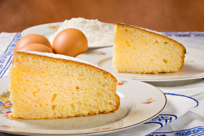 Download Slices Of An Homemade Cake. Stock Photo - Image: 22997920