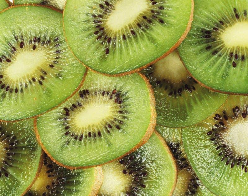 Slices of juicy kiwi. Background or texture stock photo