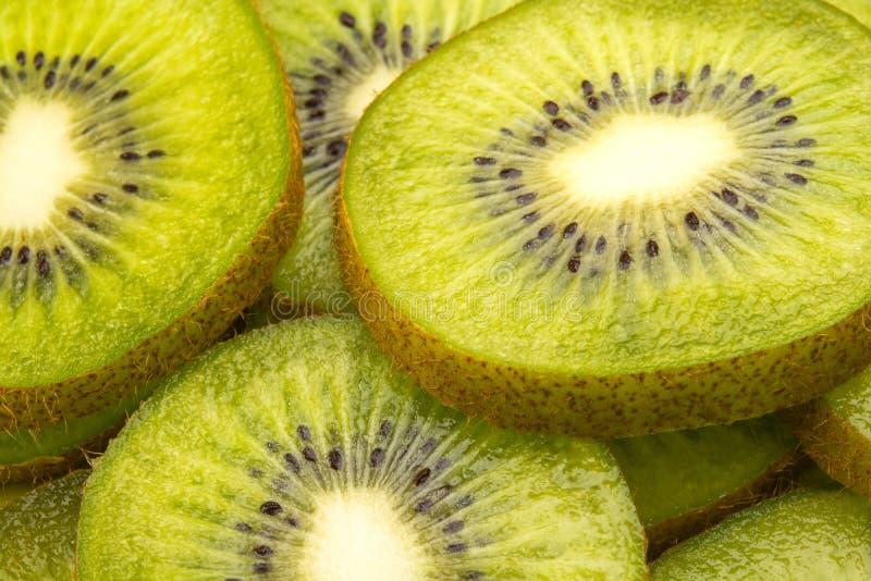Slices of kiwi fruit royalty free stock photos