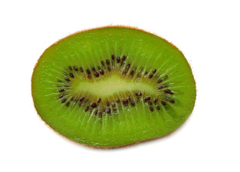 Slices kiwi fruit isolated on white background top view stock image