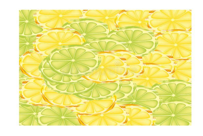 Slices of lemons and limes royalty free illustration