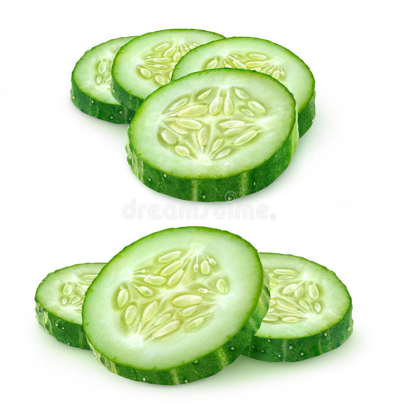 Free Slices Of Cucumber Stock Photo - 56995340